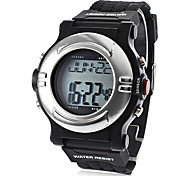Unisex hartslagmeter Calorie Counter Style Silicone Digital Automatic Wrist Watch (Black)