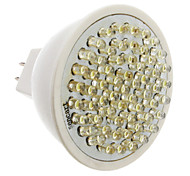 GU5.3 3.5W 60-LED 300-350LM 6000-6500K Natural White LED Light Bulb Pontual (12V)