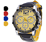 Men's Watch Sports Big Dial Analog PU Band Cool Watch Unique Watch Fashion Watch