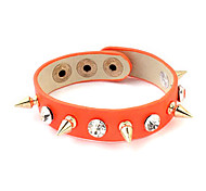 Rivet Fluorescence Color Leather Bracelet(Assorted Colors)