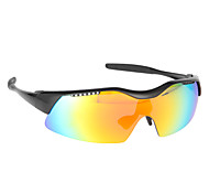 Anti-UV TR90 and Polarized PC Materials Sun-Glasses Goggle with Extra 4 Pairs of Lens(Pearl Black)