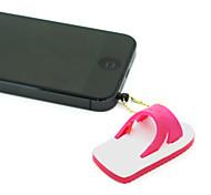 3.5mm Plastic Slippers Pattern Anti-dust Plug (Assorted Colors)