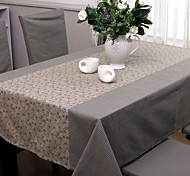 Blue Poly / Cotton Blend Rectangular Table Cloths