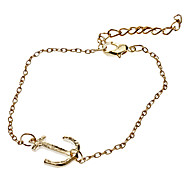 Lucky Boat Hook Metal with 2 Colors Bracelet