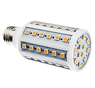 E27 10W 60x5050SMD 800-900LM 3000-3500K Warm White Light LED Corn Bulb (110/220V)