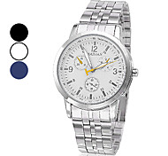 Men's Steel Quartz Analog Wrist Watch (Assorted Colors)