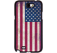 Retro Design The Old Glory Pattern PU Leather Hard Case for Samsung Galaxy Note 2 N7100