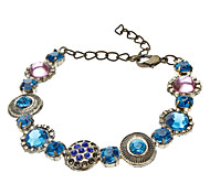 Vintage Colored Gems Diamond-Encrusted Bracelet