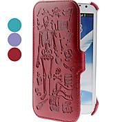 Schädel-Muster PU-Leder Etui für Samsung Galaxy Note 2 N7100