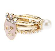 z&X® tre pezzi anello cranio perla