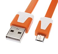 Micro USB to USB Male to Male Data Cable for Samsung/Huawei/ZTE/Nokia/HTC/Sony Ericson  Flat Type Orange(1M)