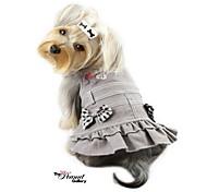 bel vestito denim con bowknot per i cani (colori assortiti, xs-l)