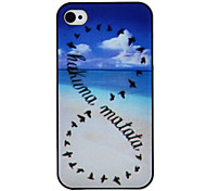 Wild Geese Coloured Drawing Pattern Black Frame PC Hard Case for iPhone 4/4S