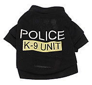 Police Style Breathable Terylene T-Shirt for Dogs (XS-L)