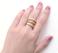 Lureme®Alloy Three-row Pattern Ring