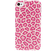 Rose Leopard Print Pattern Transparent Frame Hard Case for iPhone 4/4S