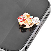 Anchor Pattern Zircon Home Button Sticker(Assorted Colors)
