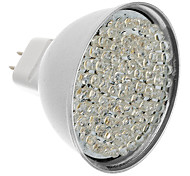 MR16 5W 81-LED 400-450LM 3000-3500K calientan la luz blanca LED del bulbo del punto (12V)