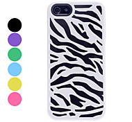 Zebra-stripe Double Layers Design Hard Case for iPhone 5/5S (Assorted Colors)