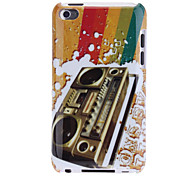 Retro Radio Pattern IMD Technology Hard Case for iPod touch 4