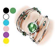 Women's Watch Silver Steel with Beads Bracelet Strap Watch Cool Watches Unique Watches Fashion Watch