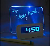 bordo di messaggio azzurro sveglia digitale con porta hub 4 usb (usb)