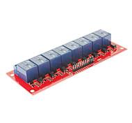 nuovo modulo relè 12v a 8 canali per (per arduino) avr braccio dsp pic - blu + rosso