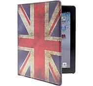 Funda de Cuerpo Entero de Cuero Sintético con Soporte con Diseño Bandera Union Jack para iPad 2/3/4