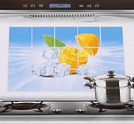 75x45cm Лимон шаблона Нефть-Proof Водонепроницаемый Стикер стены кухни