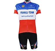 Kooplus2013 Championship Jersey France Polyester&Lycra&Elastic Fabric Cycling Suits(T-Shirt + Bib-Pants)