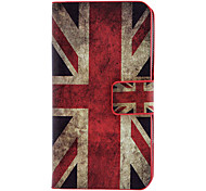 The Union Jack Pattern Full Body Case with Card Slot and Built-in Matte PC Back Cover for iPhone 4/4S