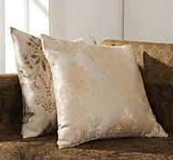 Juego de 2 Elegante Jacquard poliéster almohada cubierta decorativa