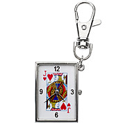 Unisex Poker Pattern Alloy Analog Quartz Keychain Watch (Assorted Patterns)