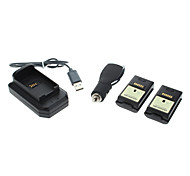 2 x 4800mAh Battery Pack +USB Charging Dock For Xbox 360 Wireless Controller