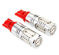 T10 7W 5-LED 290-330LM Red Light Car Reading / kenteken / Lamp (DC 12-24V, 2-pack)