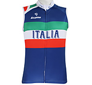 Kooplus2013 Championship Jersey Italy 100% Polyester Wicking Fibers Sleeveless Cycling Vest with Reflective Tape