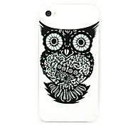 Black Owl Paper Cutting Pattern Back Case for iPhone 5/5S