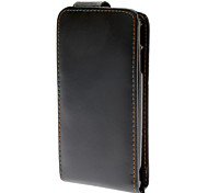 Flip up and down Designed PU Leather Black Full Body Case for Sony Ericsson Xperia ARC LT15i / X12