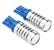 T10 5W 270-300LM Cree sp-E LED Blue Light LED Bulb for Car (DC 12V, 2-Pack)