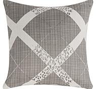 "18 ""Quadratisch Grau Geometrische Polyester Dekorative Kissenbezug"