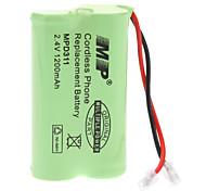 Reemplazo de la batería 2.4V/1200mAh para el teléfono inalámbrico (Pioneer / Panasonic)