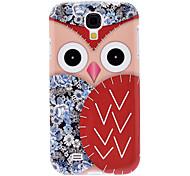 Red Owl modello TPU Custodia protettiva morbida per Samsung Galaxy i9500 S4