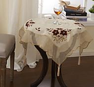 belas flores panos de mesa clássicos de poliéster