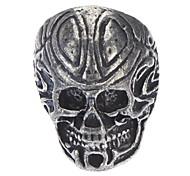 Ancient Skull Men'S Retro Silver Ring