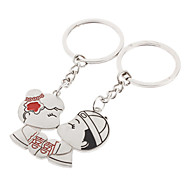 Double Happiness Style Lover Keychain (A Pair)