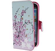 Mini Fiore modello pu custodia in pelle elegante con il basamento e Card Slot per Samsung Galaxy S3 I9300