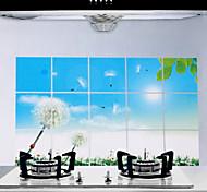 75x45cm Dandelion Pattern Oil-Proof Water-Proof Kitchen Wall Sticker