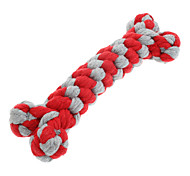 Cat / Dog Pet Toys Chew Toy Rope / Bone Red Textile