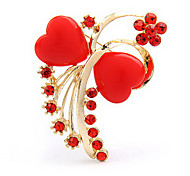 Heart Bowknot Shape Brooch(Random Color)