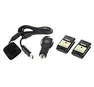 2 x 4800mAh Battery Pack +USB Charging Cable For Xbox 360 Wireless Controller
